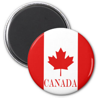 The Maple Leaf flag of Canada Magnet