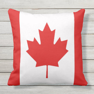 The Maple Leaf flag of Canada Outdoor Pillow