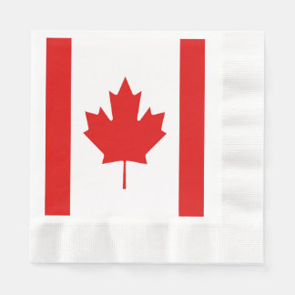 The Maple Leaf flag of Canada Paper Napkins