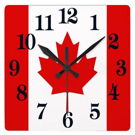 The Maple Leaf flag of Canada Wall Clocks