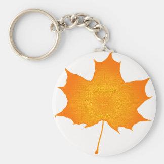 the Maple look Basic Round Button Keychain