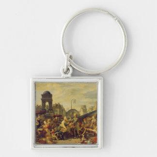 The Marche des Innocents, c.1814 Silver-Colored Square Keychain