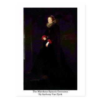 The Marchesa Spinola Geronima By Anthony Van Dyck Postcard