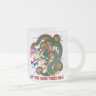 The-Mardi Gras Dragon V-2-T Frosted Glass Mug