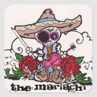 The Mariachi Square Sticker