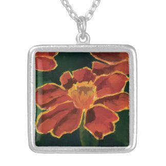 The Marigold Necklace. Silver Plated Necklace
