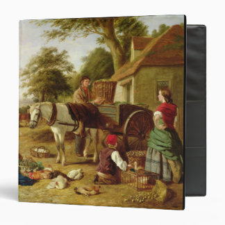 The Market Cart, 1864 (oil on canvas) 3 Ring Binder
