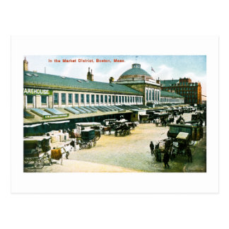 The Market District, Boston, Massachusetts Postcard