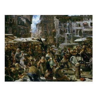 The Market of Verona Postcard