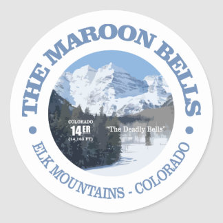 The Maroon Bells Classic Round Sticker