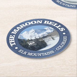 The Maroon Bells Round Paper Coaster