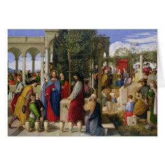 The Marriage at Cana, 1819 Card