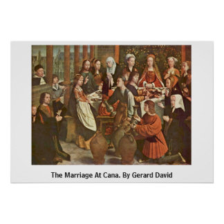 The Marriage At Cana. By Gerard David Poster