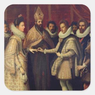 The Marriage of Catherine de Medici Square Sticker