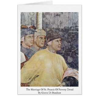 The Marriage Of St. Francis Of Poverty Detail Greeting Card