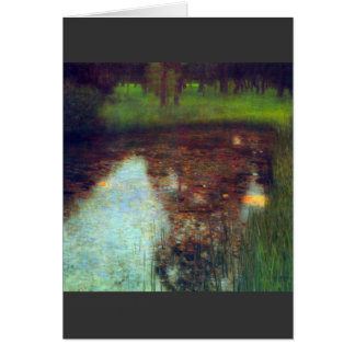 The Marsh by Gustav Klimt Card