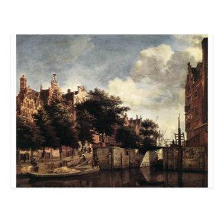 The Martelaarsgracht in Amsterdam by Adriaen Postcard