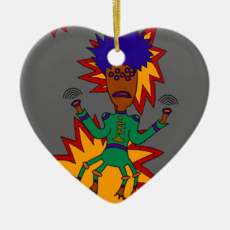 The Martian Jazz Man Ceramic Ornament