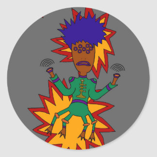 The Martian Jazz Man Classic Round Sticker
