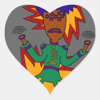 The Martian Jazz Man Heart Sticker