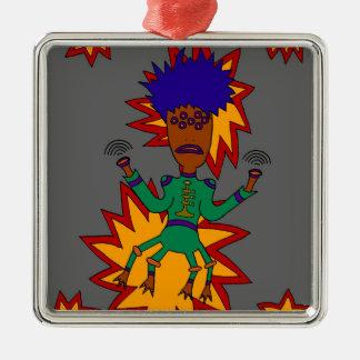 The Martian Jazz Man Metal Ornament