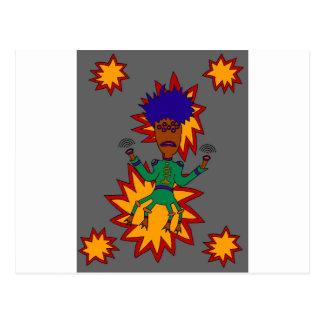 The Martian Jazz Man Postcard