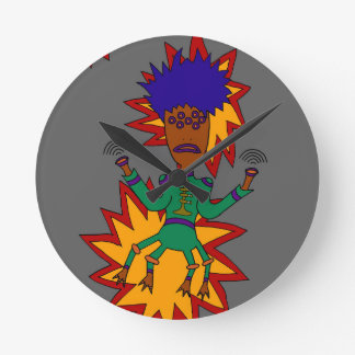 The Martian Jazz Man Round Clock