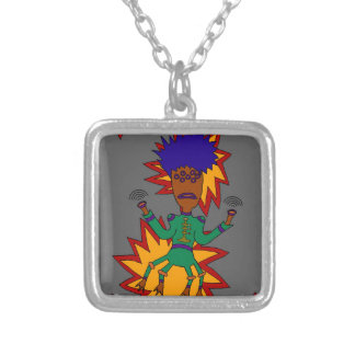 The Martian Jazz Man Silver Plated Necklace