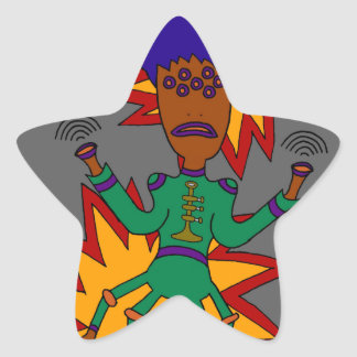 The Martian Jazz Man Star Sticker