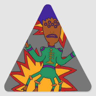The Martian Jazz Man Triangle Sticker