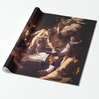 The Martyrdom of Saint Matthew by Caravaggio 1600 Wrapping Paper