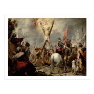 The Martyrdom of St. Andrew, 1675-82 (oil on canva Postcard