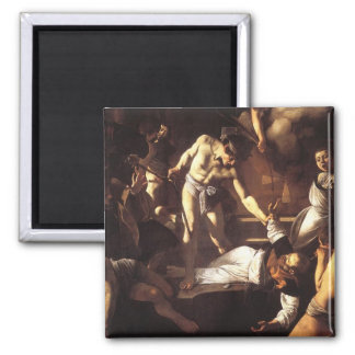The Martyrdom of St Matthew Square Magnet