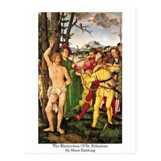The Martyrdom Of St. Sebastian By Hans Baldung Postcard