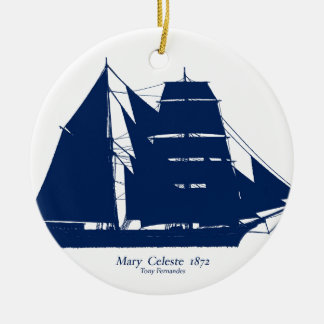 The Mary Celeste 1872 by tony fernandes Ceramic Ornament