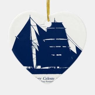 The Mary Celeste 1872 by tony fernandes Ceramic Ornament