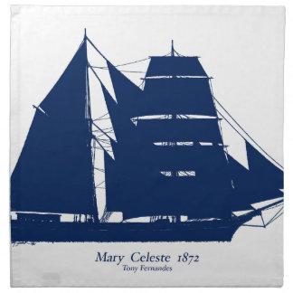 The Mary Celeste 1872 by tony fernandes Napkin