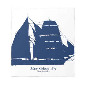 The Mary Celeste 1872 by tony fernandes Notepad