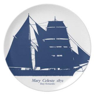 The Mary Celeste 1872 by tony fernandes Plate