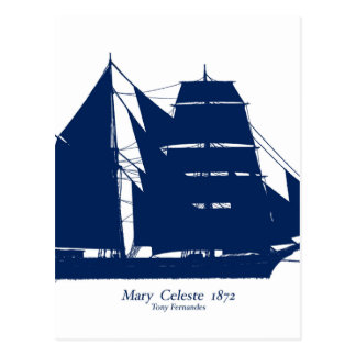 The Mary Celeste 1872 by tony fernandes Postcard