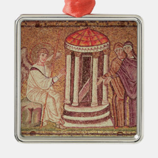 The Marys at the Tomb Silver-Colored Square Ornament