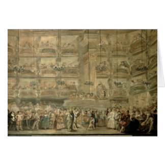 The Masked Ball, c.1767 Card