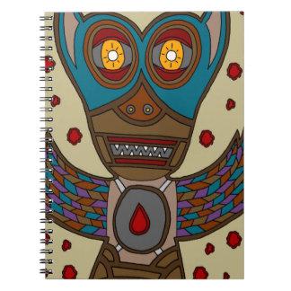The Masked Blood Bat Spiral Notebook