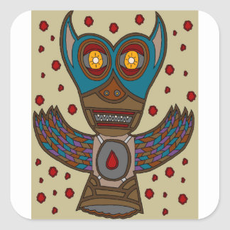 The Masked Blood Bat Square Sticker