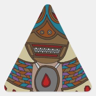 The Masked Blood Bat Triangle Sticker