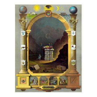 The Masonic Chart Postcard