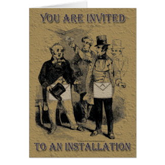 The Masonic Installation Invitation