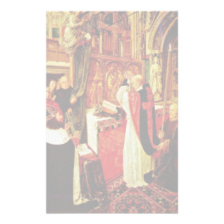 The Mass Of St. Giles By Meister Des Heiligen Ägid Personalized Stationery