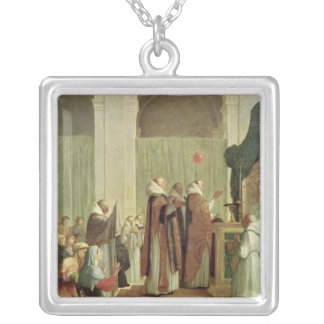 The Mass of St. Martin of Tours, 1654 Silver Plated Necklace