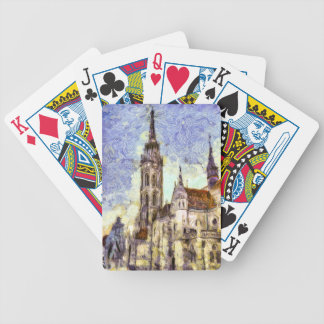 The Mathias Church Budapest Art Bicycle Playing Cards
